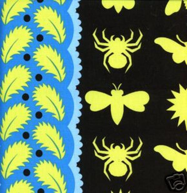 Prairie Gothic Moth Bee Spider Quilt Cotton Fabric Sassaman C94