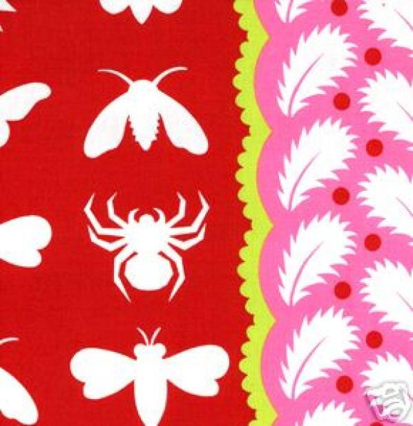 Prairie Gothic Moth Bee Spider Quilt Cotton Fabric Sassaman FF128