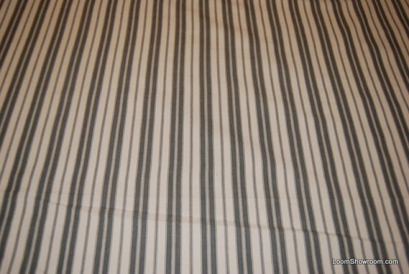 Ch27 Clarence House Clic Ticking Stripe Grey And White Stripes Heavy Weight High Thread Count Cotton Fabric