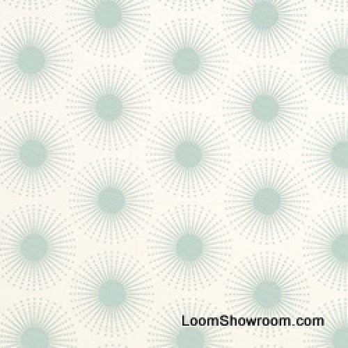 Thomas Paul Sea Life Illustrated Graphic Print Anemone Sputnik Heavy Weight Cotton Fabric Aqua DSO114NR