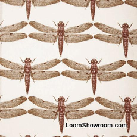 Thomas Paul Illustrated Nature Insect Dragonfly Heavy Cotton Linen Fabric DSO151a R/O