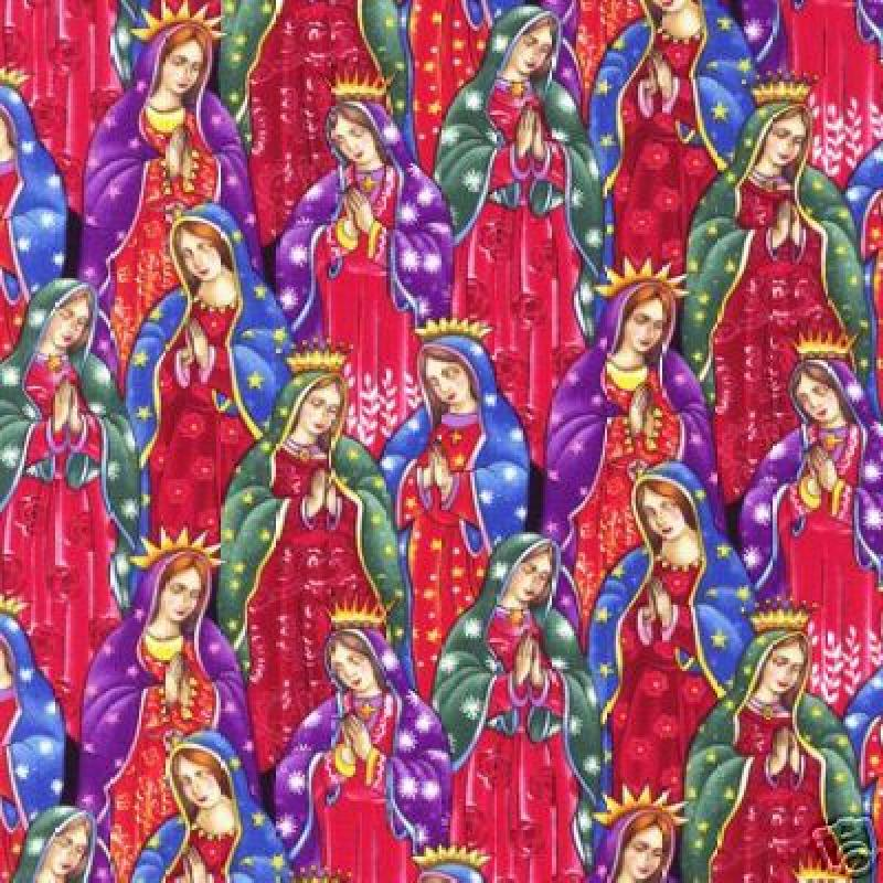 Our Lady of Guadalupe Rubin Sew Quilt Cotton Fabric RK71