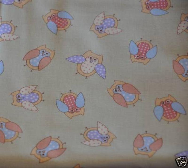 F95 Spotted Owl Retro Patchwork Quilt Cotton Fabric