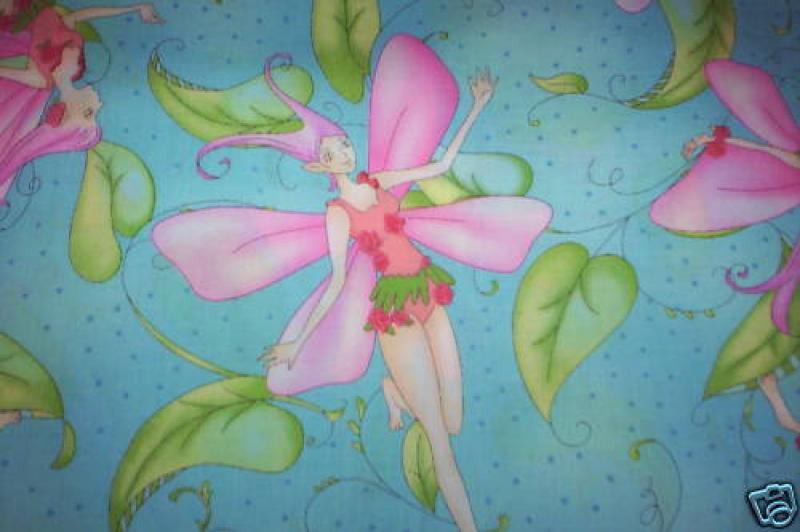 Fairy Princess Flower Pretty Fairies Fantasy Magic Quilt Fabric Cotton Fabric G46