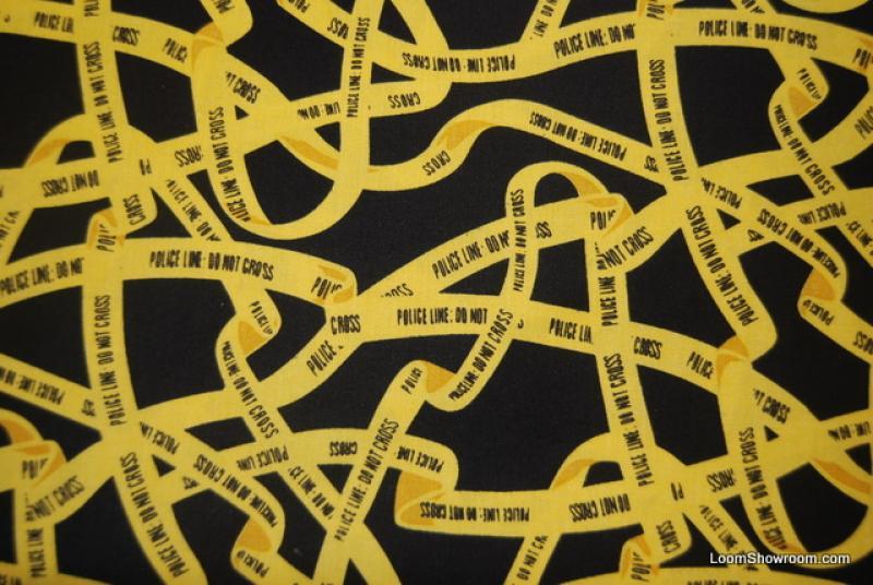 Police Tape Crime Scene CSI Emergency Investigation Cotton fabric Quilt fabric G77