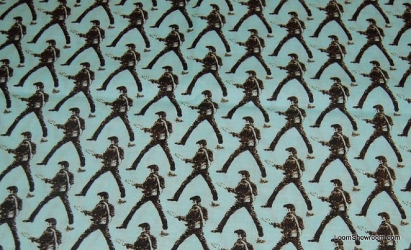 Elvis Presley The King of Rock and Roll Warhol Style Print Blue Cotton Fabric Quilt Fabric G79