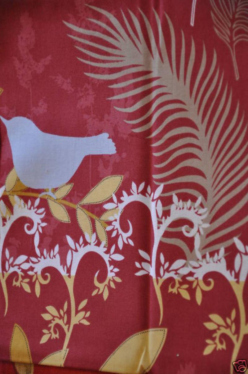 * G83 Retro Bird Tree Nature Modern Quilt Cotton Fabric