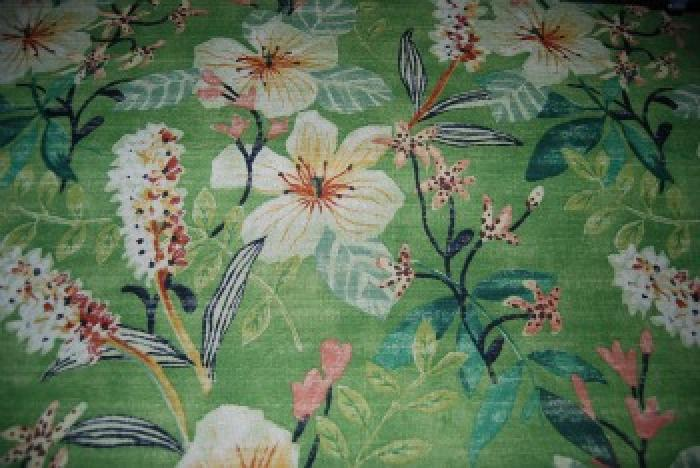 HD690 Heavy Tropical Retro Barkcloth Texture Cotton Fabric Upholstery Weight