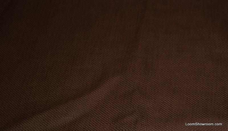 Hd801 Chocolate Brown Heavy Textured Barkcloth Style Retro Look