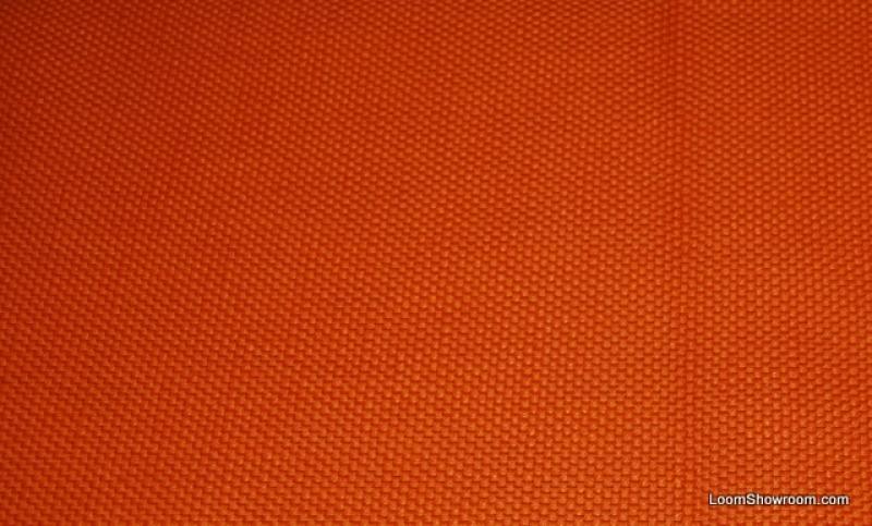HD802 Tangerine Modern Heavy Textured Barkcloth Style Retro Look Solid Cotton Fabric Drapery Fabric Upholstery Fabric