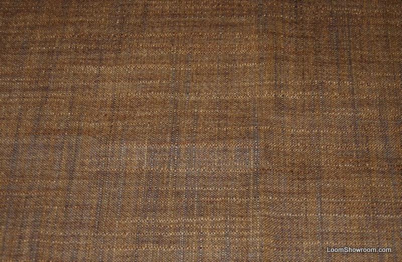 HD811 Chocolate Brown Fabulous Linen Texture Solid Slubby Linen Cotton Fabric Drapery Fabric