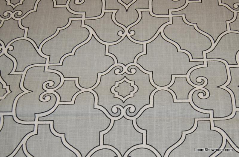Lattice Modern Fretwork Gate Geometric Print Linen Texture Linen Cotton Fabric Drapery Fabric HDA010OS
