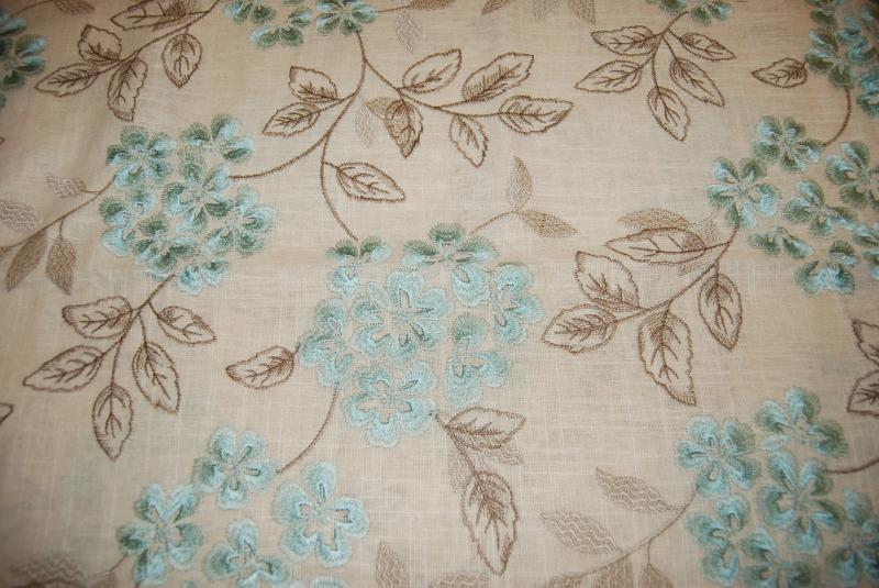 Hda019 Fl Embroidered Linen Flower Garden Crewel Light Home Decor Fabric