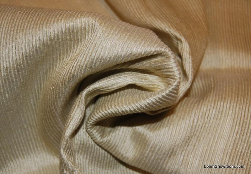 Ottoman Silk Celery Green Heavy Ribbed Drapery Silk Fabric HDA04