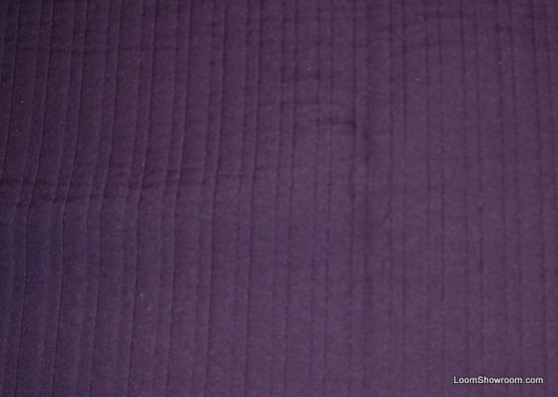 Matelasse Eggplant Purple Aubergine Vertical Stripe Quilted Heavy Upholstery Fabric HDA08