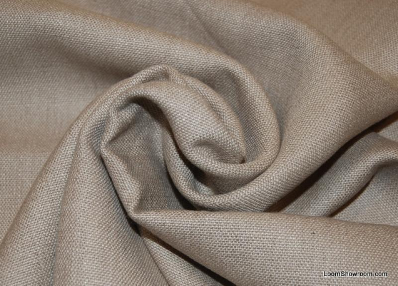 Taupe Solid Linen Texture Heavy Weight Cotton Fabric Upholstery HDA09OS