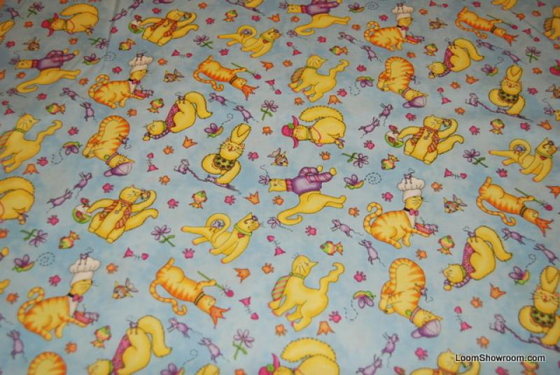 J94 Meow Meow Cats Wearing Hats Silly Kitty Cat Kitten cotton fabric quilt fabric