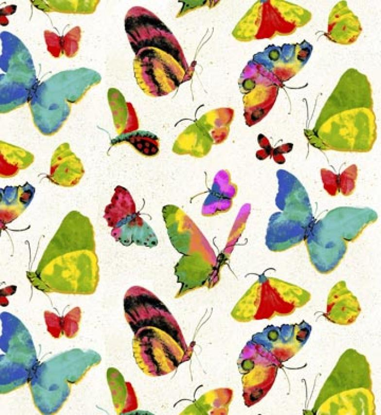 L39 Butterfly Bug Insect Modern Sew Quilt Cotton Fabric