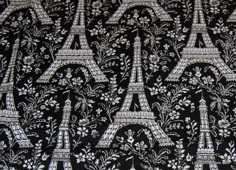 Paris Vintage France Eiffel Tower Cotton Quilt Fabric LM10