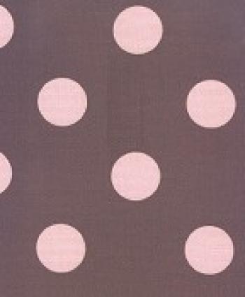 Polka Dot Pink Brown Modern Sun Soft Famous Maker Outdoor Fabric 570