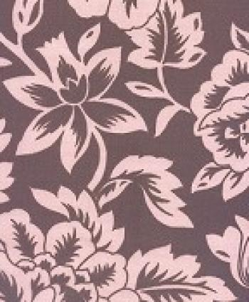 6 YARD BOLT! Floral Modern Pink Chocolate Brown Famous Maker Sun Outdoor Fabric PC578