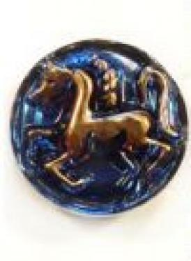 Vintage Danish Modern Horse Bohemian Glass Button