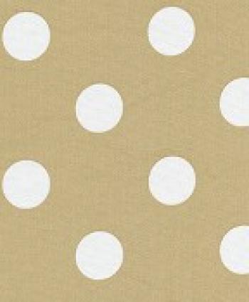 Polka Dot Tan White Sun Mod Outdoor Home Decor Fun Retro Fabric S55