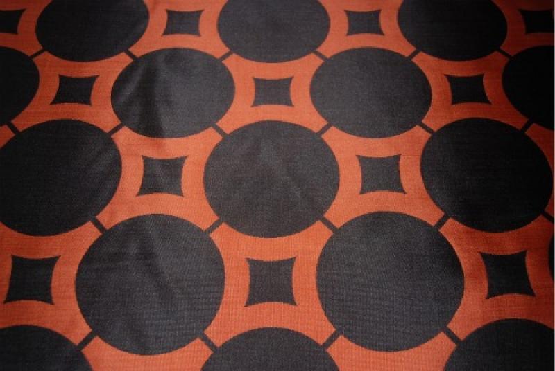 OSRG02 Copper Medallion Reversible Drapery Fabric OSRG02