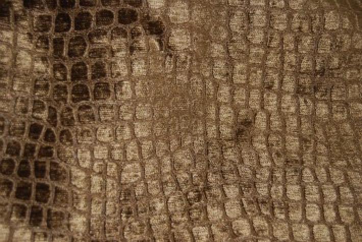 Velvet Crocodile Alligator Snake Skin Texture Velvet Heavy Upholstery Fabric OSRG100