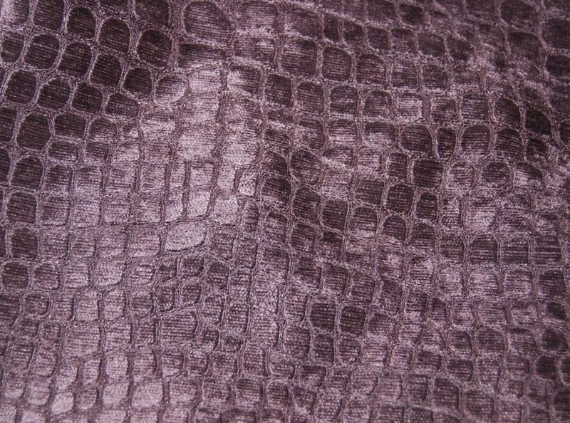 Velvet Crocodile Alligator Snake Skin Texture Velvet Heavy Upholstery Fabric OSRG102