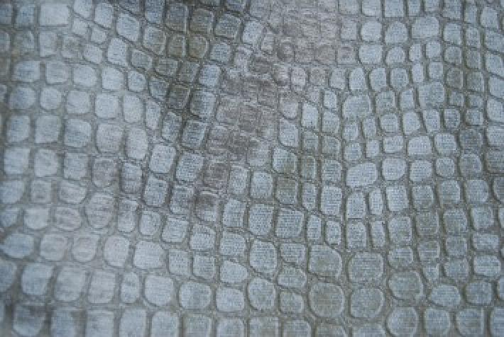 Velvet Crocodile Alligator Snake Skin Texture Velvet Heavy Upholstery Fabric OSRG104