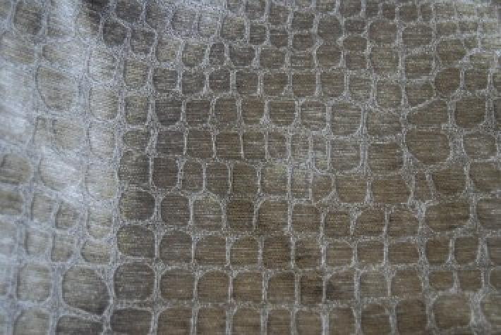 Velvet Crocodile Alligator Snake Skin Texture Velvet Heavy Upholstery Fabric OSRG106