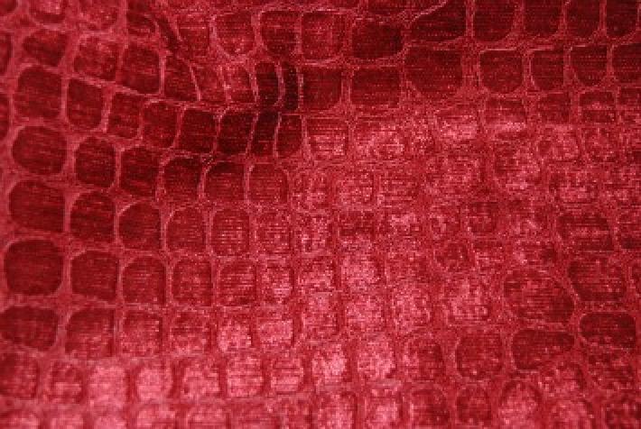 Velvet Crocodile Alligator Snake Skin Texture Velvet Heavy Upholstery Fabric OSRG108