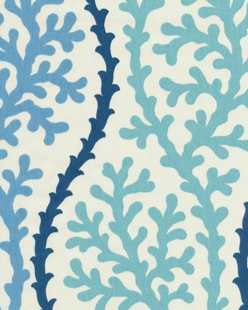 Coral Kelp Ocean Sea Shell Modern Bold Graphic Print Heavy Weight Cotton Fabric Drapery Fabric OSYM923