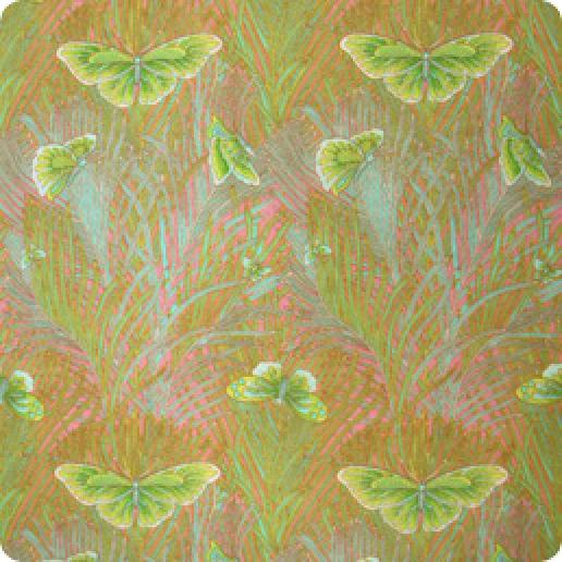 Arts and Crafts Silvers Liberty Style Butterfly Peacock Feather Fulham Road Cotton Lawn Fabric