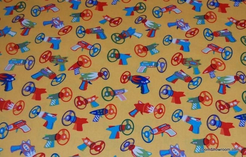 P140 Spyro Blasters Toy Guns Ray Guns Kids Toys  Retro Robot Japanese Sci Fi Toy Tin Toy Space Gun Quilt Fabric Cotton Fabric