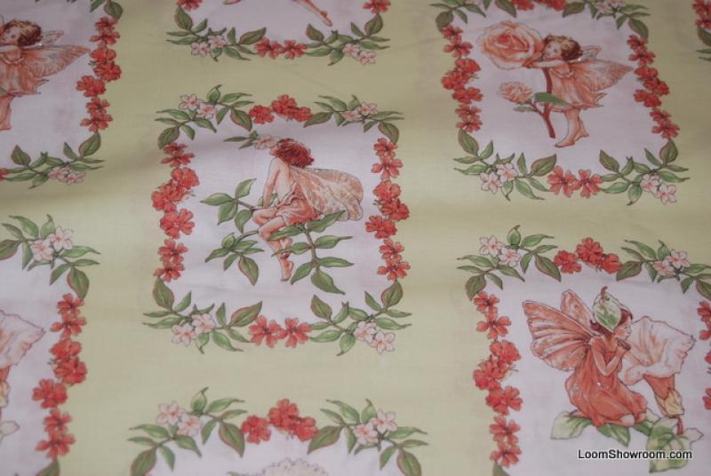 FF57 Flower Fairies Cecily Barker Artwork Butterflies cotton fabric quilt fabric