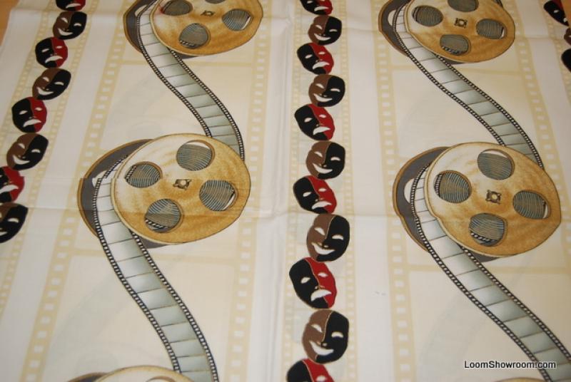 P83 Lights Camera Action Theatre Film Movie Drama Quilt Fabric Cotton Fabric