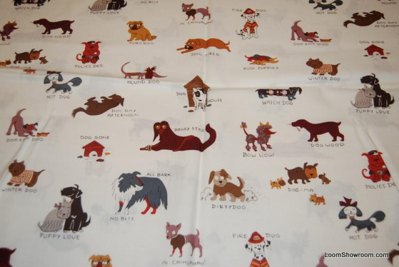 Q117 Hush Puppies Wiener Dogs Lab Scottie Dog Dalmation Puppy Pug House Cotton fabric Quilt fabric