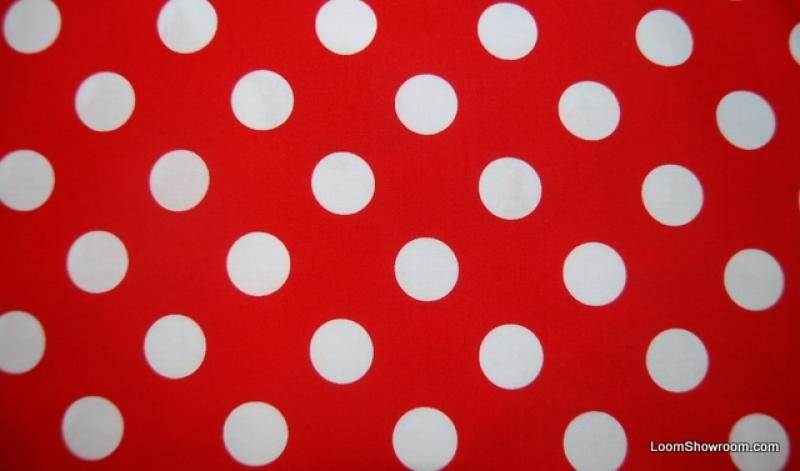 Q34 White Polka Dots Red background Gnome Fabric Coordinate Cotton Fabric Quilt Fabric