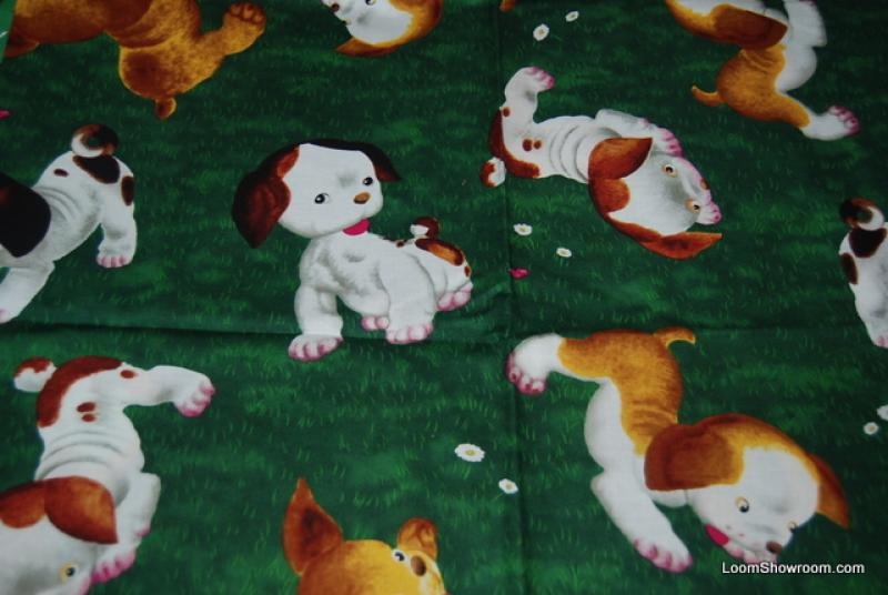 Little Golden Books Pokey Little Puppy Book Cotton Fabric Quilt
