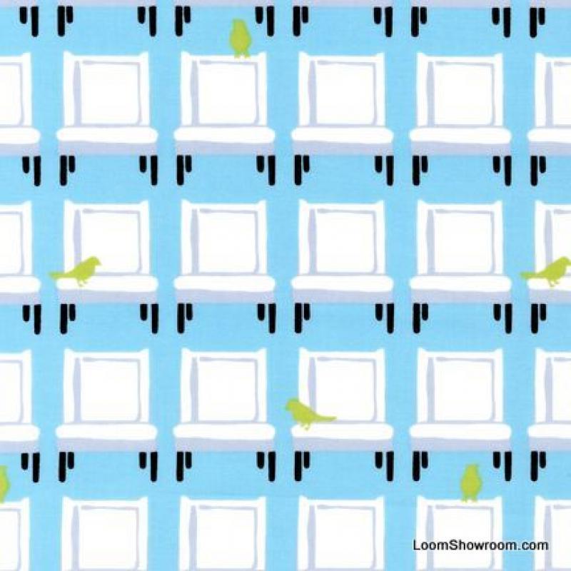 FAT QUARTER! Tufted Tweets Modern Classic Chairs Furntiture Bird Cotton Fabric Quilt Fabric RPFR219