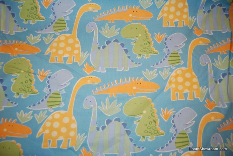 R346 Scandinavian Modern Baby Dinosaurs Cotton Fabric Quilt Fabric
