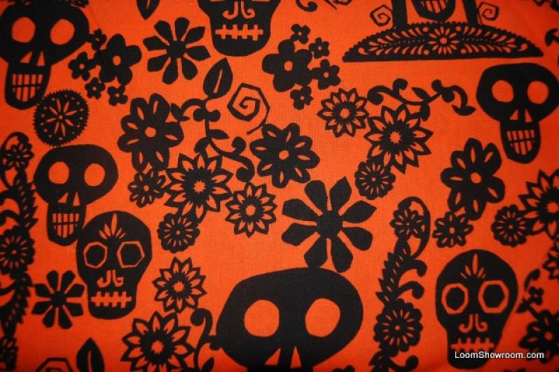 Papel Picado Mexico Skull Day of the Dead Paper Cuts Birds Hearts Flowers Cotton Fabric Quilt Fabric R99