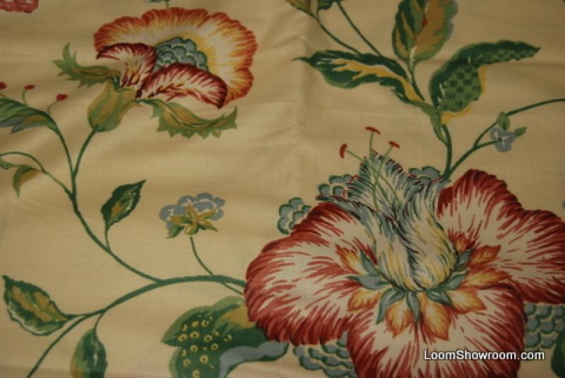 2.5 Yard Piece Glazed Chintz Polished Cotton Heavy Drapery Fabric REM125 Orig Price $150 SALE $19 WHOLE PIECE