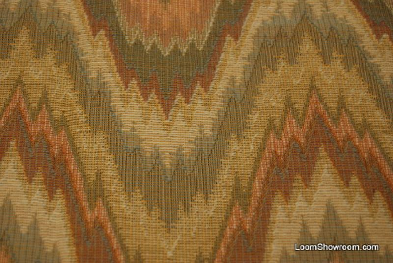 3 4 Yard Piece Flame Stitch High End Italian Woven Tapestry Fabric