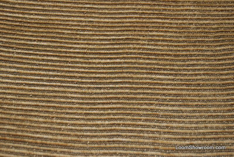 1.50 Yard Piece Chenille Stripe High End Fabric Cotton Fabric Heavy Weight Brown Gold Chenille REM134 Orig Price $135 SALE $15 WHOLE PIECE