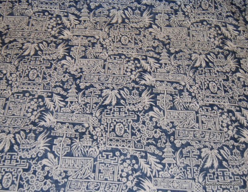 RL112 Ralph Lauren Le Colonial Toile Indigo Blue and White Asia ...