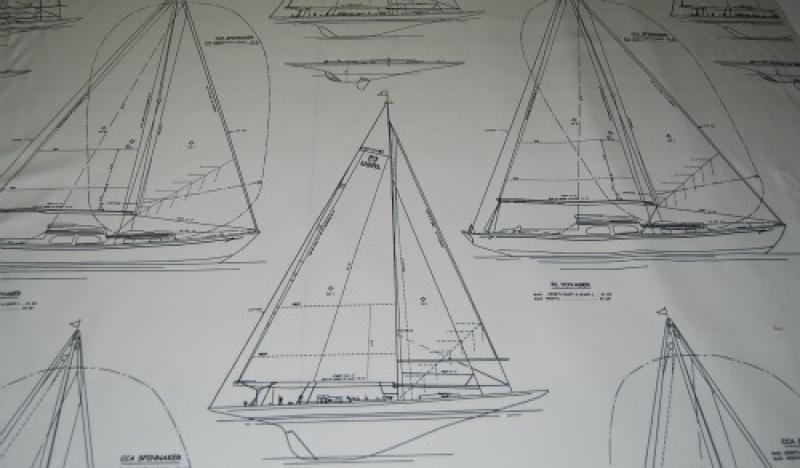 RL551 Ralph Lauren Gulf Breeze Canvas Yacht Sailboat Sailing Heavy Weight Cotton Fabric
