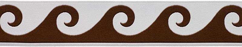 5 Yard Spool Jacquard Espresso and Vanilla Woven Wave Ribbon 5 Yards 1 1/2 inch width RROS138